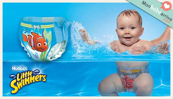 Couches de bain little swimmers for Bebe couche piscine