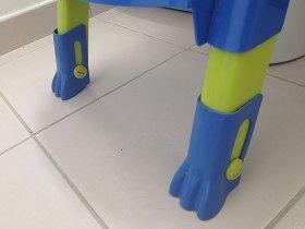 Les pieds du réducteur de WC Kiddyloow sont réglables.