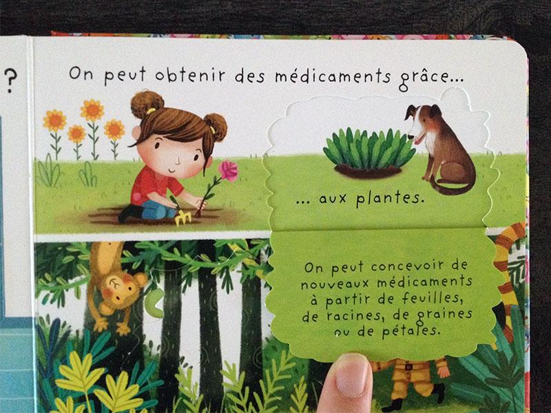 Le livre explique simplement les choses aux enfants.