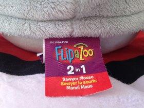 Flipazoo c'est deux peluches en une.
