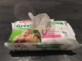 Les lingettes Love and Green