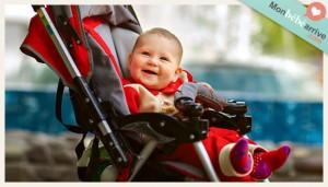 La poussette pour bébé