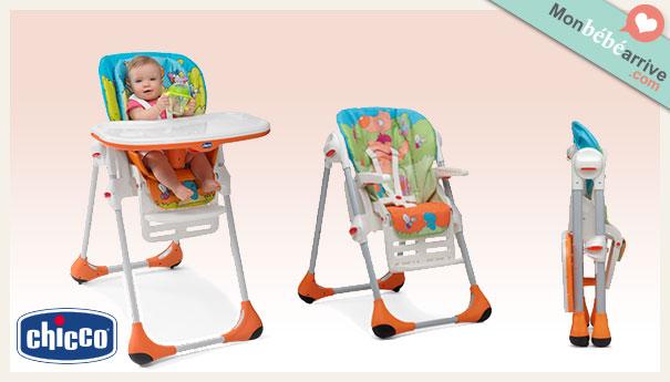 Chaise haute Polly Chicco pour bébé