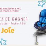 Gagner siège auto I Anchor de Joie