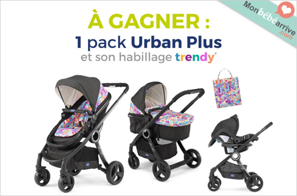 Gagner une poussette Chicco Pack Urban Plus