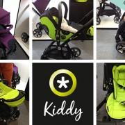 Zoom sur les poussettes Kiddy vues sur le salon Baby Cool 2017