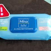Hygiène : Lingettes Mixa bébé à l'eau nettoyante