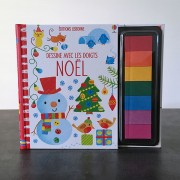 Dessine avec les doigts Noël (Editions Usbone)